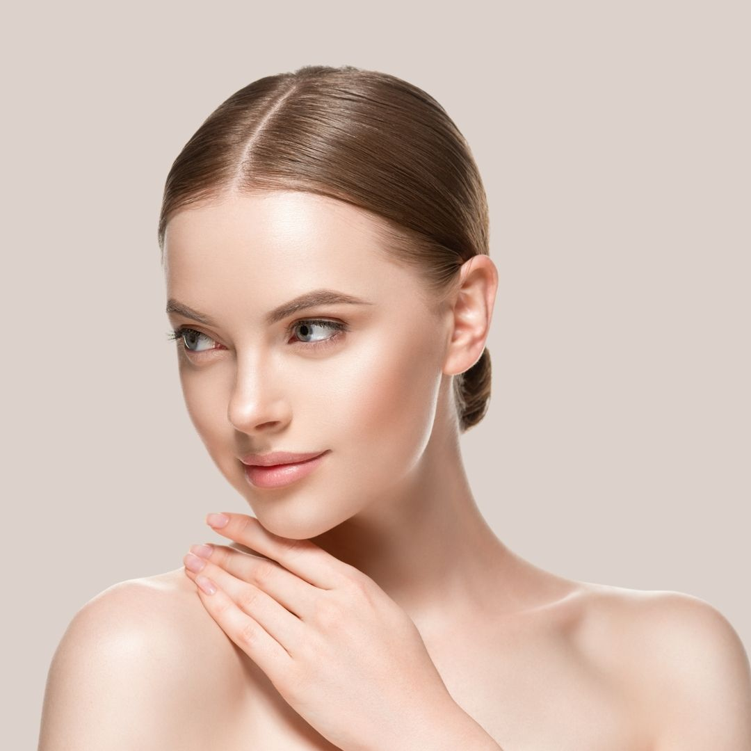 A sweet faced young woman with perfect skin plumpness demonstrates Anti-wrinkle Injections by Medical Injectables in Wollongong and Orange NSW