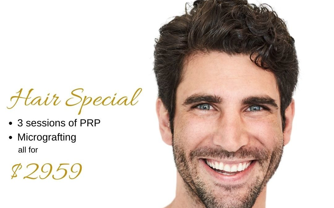 Smiling man in his 30s depicting special 3 months Hair Loss Treatments offer by Medical Injectables in Wollongong and Orange, NSW